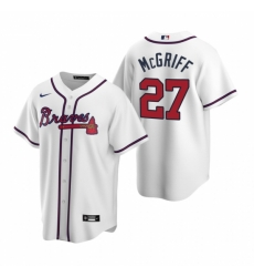 Mens Nike Atlanta Braves 27 Fred McGriff White Home Stitched Baseball Jersey