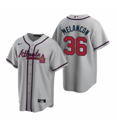 Mens Nike Atlanta Braves 36 Mark Melancon Gray Road Stitched Baseball Jersey