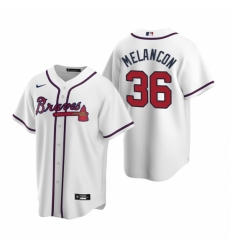 Mens Nike Atlanta Braves 36 Mark Melancon White Home Stitched Baseball Jersey
