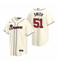 Mens Nike Atlanta Braves 51 Will Smith Cream Alternate Stitched Baseball Jersey