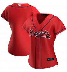 Atlanta Braves Nike Women Alternate 2020 MLB Jersey Red