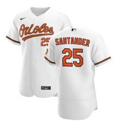 Men Baltimore Orioles 25 Anthony Santander Men Nike White Home 2020 Flex Base Player MLB Jersey