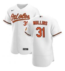 Men Baltimore Orioles 31 Cedric Mullins Men Nike White Home 2020 Flex Base Player MLB Jersey