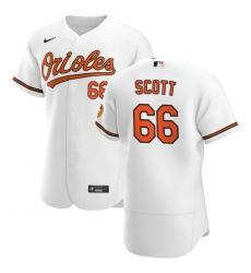 Men Baltimore Orioles 66 Tanner Scott Men Nike White Home 2020 Flex Base Player MLB Jersey