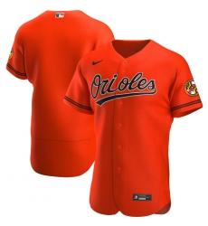 Men Baltimore Orioles Men Nike Orange Alternate 2020 Flex Base Official Team MLB Jersey