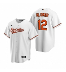 Mens Nike Baltimore Orioles 12 Roberto Alomar White Home Stitched Baseball Jersey