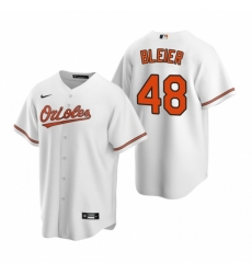 Mens Nike Baltimore Orioles 48 Richard Bleier White Home Stitched Baseball Jersey