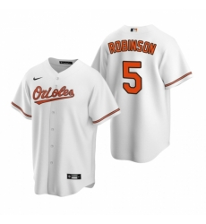 Mens Nike Baltimore Orioles 5 Brooks Robinson White Home Stitched Baseball Jerse
