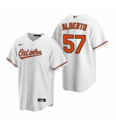 Mens Nike Baltimore Orioles 57 Hanser Alberto White Home Stitched Baseball Jersey