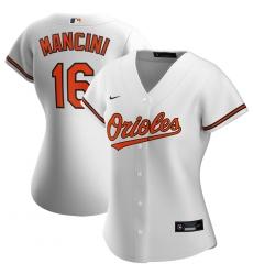 Baltimore Orioles 16 Trey Mancini Nike Women Home 2020 MLB Player Jersey White