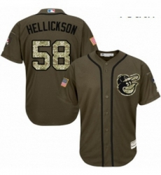 Youth Majestic Baltimore Orioles 58 Jeremy Hellickson Replica Green Salute to Service MLB Jersey