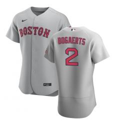Men Boston Red Sox 2 Xander Bogaerts Men Nike Gray Road 2020 Flex Base Team MLB Jersey