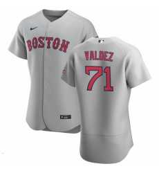 Men Boston Red Sox 71 Phillips Valdez Men Nike Gray Road 2020 Flex Base Team MLB Jersey