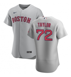 Men Boston Red Sox 72 Josh Taylor Men Nike Gray Road 2020 Flex Base Team MLB Jersey