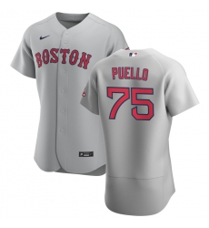 Men Boston Red Sox 75 Cesar Puello Men Nike Gray Road 2020 Flex Base Team MLB Jersey