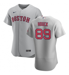 Men Boston Red Sox 89 Tanner Houck Men Nike Gray Road 2020 Flex Base Team MLB Jersey