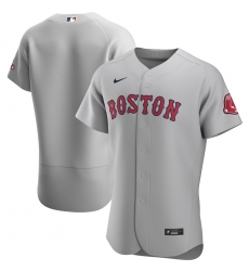 Men Boston Red Sox Men Nike Gray Road 2020 Flex Base Official Team MLB Jersey