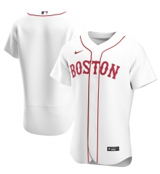 Men Boston Red Sox Men Nike White Home 2020 Flex Base MLB Jersey