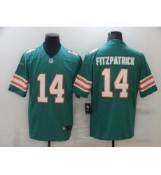 Men Miami Dolphins Ryan Fitzpatrick 14 Green Vapor Untouchable Limited Player Football Jersey