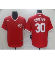 Men Nike Cincinati Reds Ken Griffey Jr 30 Red Cool Base Stitched Pullover MLB Jersey