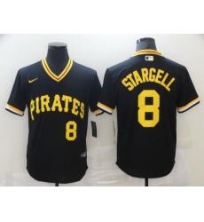 Men Nike Pittsburgh Pirates  8 Willie Stargell Black Mesh Batting Practice Throwback Nike Jersey