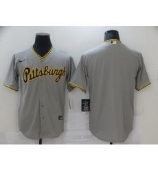 Men Nike Pittsburgh Pirates grey Blank Coolbase Jersey