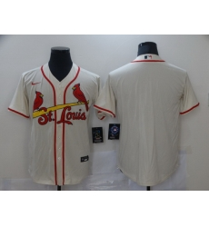 Men Nike St  Louis Arizona Cardinals Cream Stitched MLB Blank Cool Base Nike Jersey