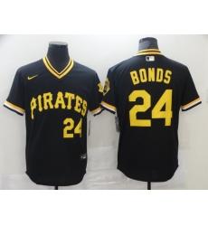 Men Pittsburgh Pirates Barry Bonds 24 Black Alternate Cool Base Baseball Jersey