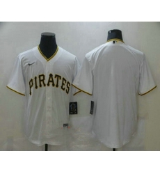 Men Pittsburgh Pirates Blank White Stitched MLB Cool Base Nike Jersey