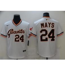 Men San Francisco New York Giants 24 Mays White Game 2021 Nike MLB Jersey