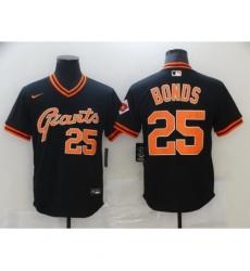 Men San Francisco New York Giants 25 Larry Bonds Black Game 2021 Nike MLB Jersey