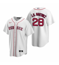 Mens Nike Boston Red Sox 28 JD Martinez White Home Stitched Baseball Jersey