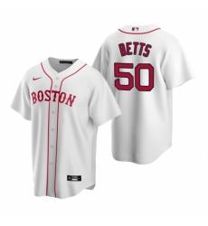 Mens Nike Boston Red Sox 50 Mookie Betts White Alternate Stitched Baseball Jerse