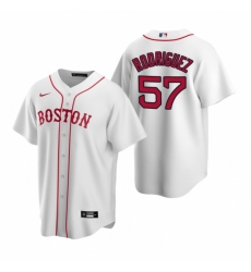 Mens Nike Boston Red Sox 57 Eduardo Rodriguez White Alternate Stitched Baseball Jersey