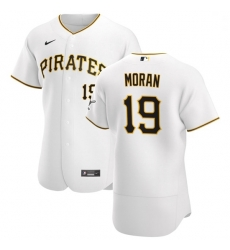 Pittsburgh Pirates 19 Colin Moran Men Nike White Home 2020 Authentic Player MLB Jersey