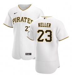 Pittsburgh Pirates 23 Mitch Keller Men Nike White Home 2020 Authentic Player MLB Jersey