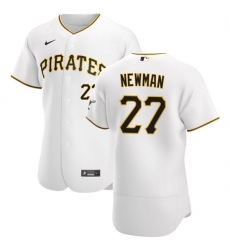 Pittsburgh Pirates 27 Kevin Newman Men Nike White Home 2020 Authentic Player MLB Jersey