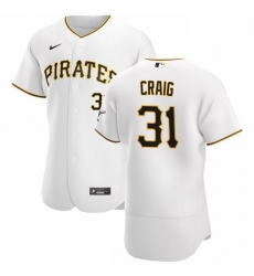 Pittsburgh Pirates 31 Will Craig Men Nike White Home 2020 Authentic Player MLB Jersey