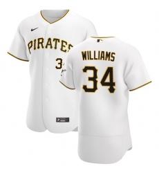 Pittsburgh Pirates 34 Trevor Williams Men Nike White Home 2020 Authentic Player MLB Jersey