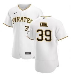 Pittsburgh Pirates 39 Chad Kuhl Men Nike White Home 2020 Authentic Player MLB Jersey