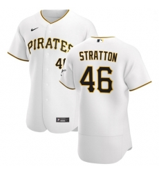 Pittsburgh Pirates 46 Chris Stratton Men Nike White Home 2020 Authentic Player MLB Jersey