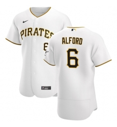 Pittsburgh Pirates 6 Anthony Alford Men Nike White Home 2020 Authentic Player MLB Jersey