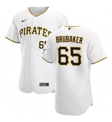 Pittsburgh Pirates 65 JT Brubaker Men Nike White Home 2020 Authentic Player MLB Jersey