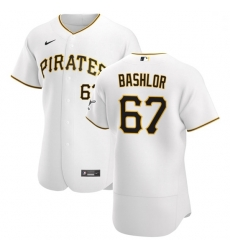 Pittsburgh Pirates 67 Tyler Bashlor Men Nike White Home 2020 Authentic Player MLB Jersey
