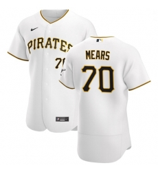 Pittsburgh Pirates 70 Nick Mears Men Nike White Home 2020 Authentic Player MLB Jersey