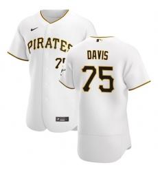 Pittsburgh Pirates 75 Austin Davis Men Nike White Home 2020 Authentic Player MLB Jersey