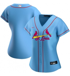 St  Louis St.Louis Cardinals Nike Women Alternate 2020 MLB Team Jersey Light Blue