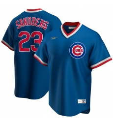 Men Chicago Cubs 23 Ryne Sandberg Nike Road Cooperstown Collection Player MLB Jersey Royal