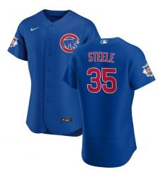 Men Chicago Cubs 35 Justin Steele Men Nike Royal Alternate 2020 Flex Base Player Jersey