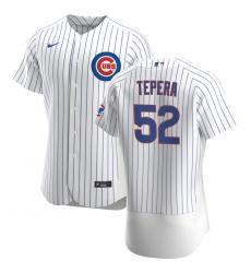 Men Chicago Cubs 52 Ryan Tepera Men Nike White Home 2020 Flex Base Player Jersey